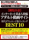 【閲覧注意】インターネット某素人投稿アダルト動画サイト歴代ダウンロード数ランキングBEST10